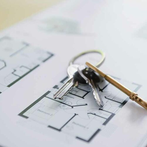 apartment rental house keys and floorplans