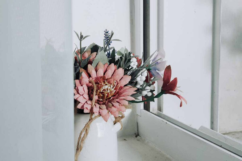 Artificial flowers are a huge design trend in 2020