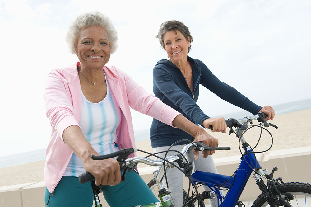 simplify your life retired women bike riding